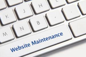 Website Maintenance on Keyboard